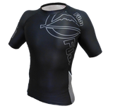 FUJI Inverted Short Sleeve Rashguard-Black-1