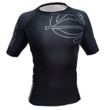 FUJI Inverted Short Sleeve Rashguard-Black-2