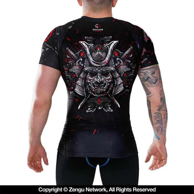 Ground Game-Samurai Grappling Rashguard-1