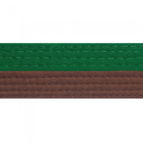 BOLD LOOK HALF GREEN WITH HALF COLOR BELTS-GREEN/BROWN-1