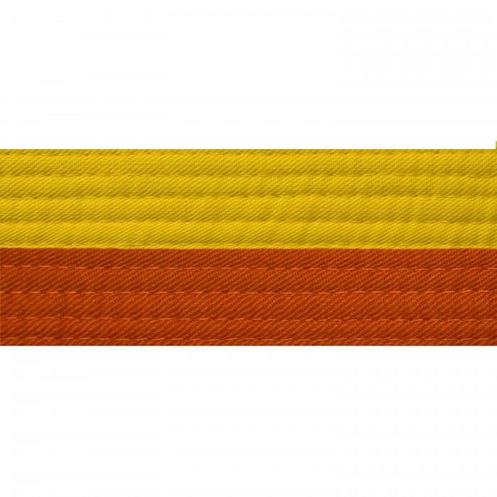 BOLD LOOK HALF YELLOW WITH HALF COLOR BELTS-YELLOW/ORANGE-1