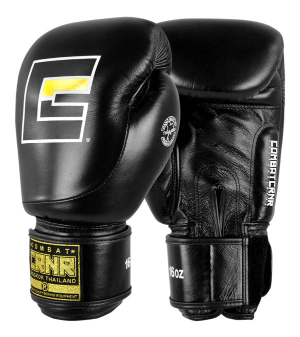 Combat Corner HMIT Black Boxing Gloves-1