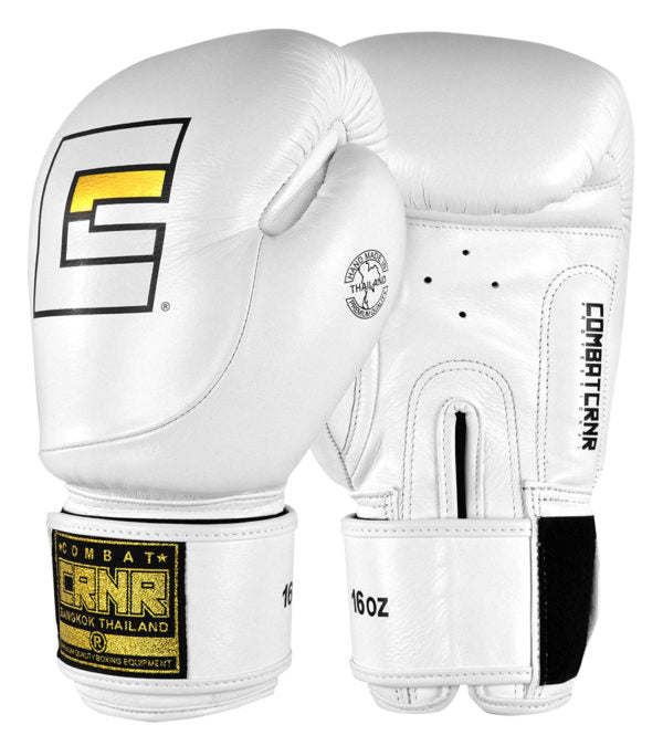 Combat Corner HMIT White Boxing Gloves-1