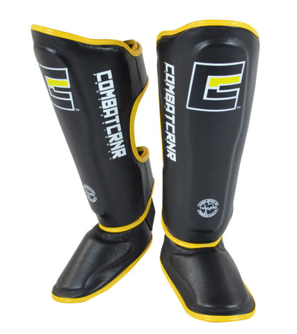 Combat Corner HMIT Shin Guards Yellow-1
