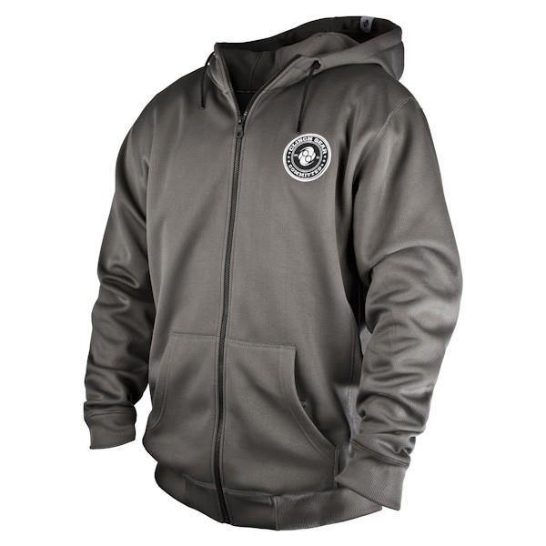 Clinch Gear-Champion Technical Zip-up Hoodie-(Gunmetal Grey)-front