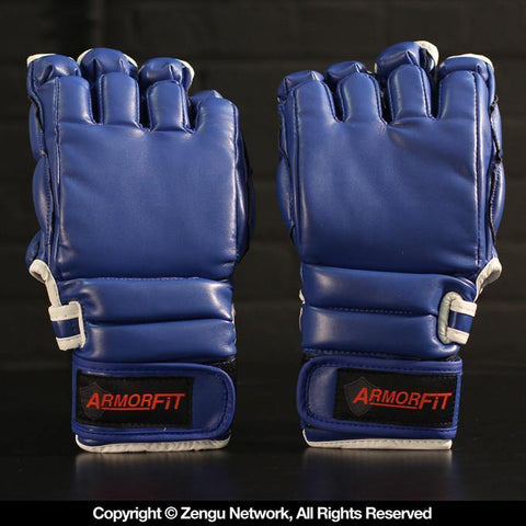 Armor Fit MMA Training Gloves-BLUE-1