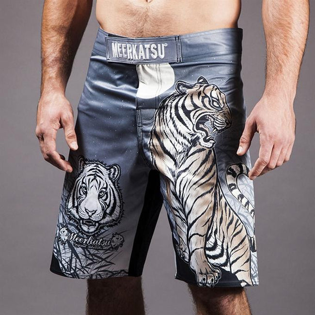Meerkatsu-Midnight Tiger Grappling Shorts-front