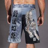 Meerkatsu-Midnight Tiger Grappling Shorts-back