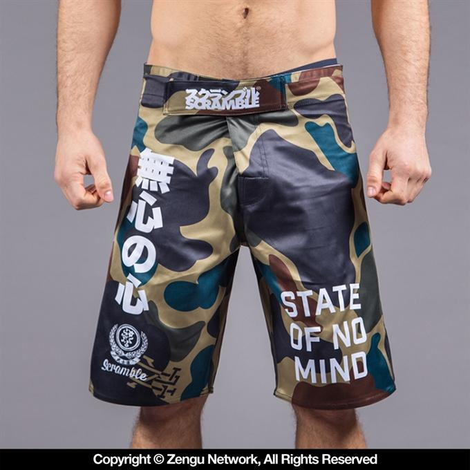 Scramble-No Mind Camo Shorts-front