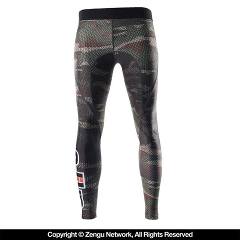 "Grips Athletics-""Snake Camo"" Grappling Tights-1"