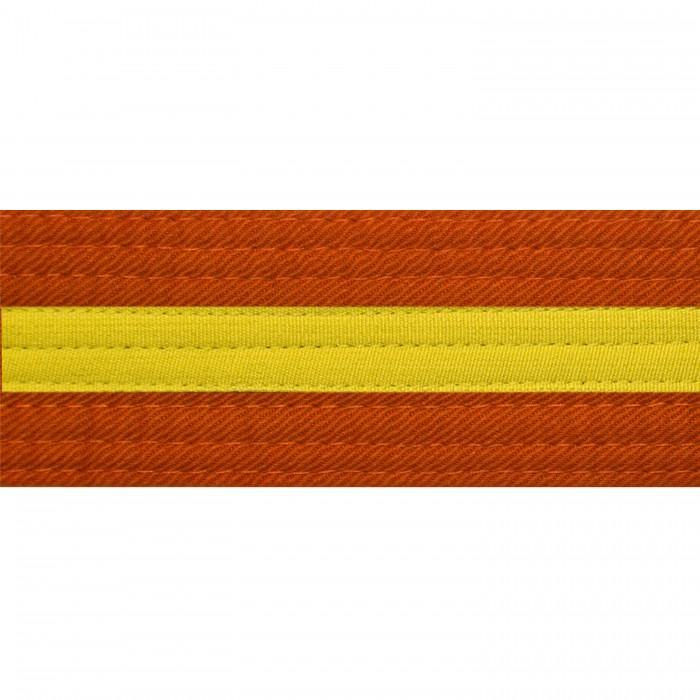 BOLD LOOK ORANGE BELTS WITH STRIPE-ORN/YLW STRIPE