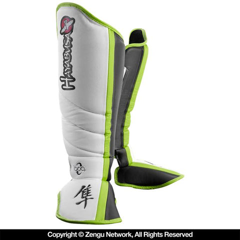 Hayabusa-Mirai Series Shin Guards (White/Black)-1