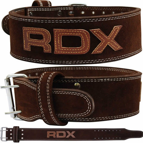 RDX BROWN LEATHER 10MM POWERLIFTING BELT-1