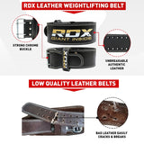 RDX 4PBO BLACK LEATHER 10MM POWER LIFTING BELT-3