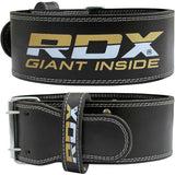 RDX 4PBO BLACK LEATHER 10MM POWER LIFTING BELT-4