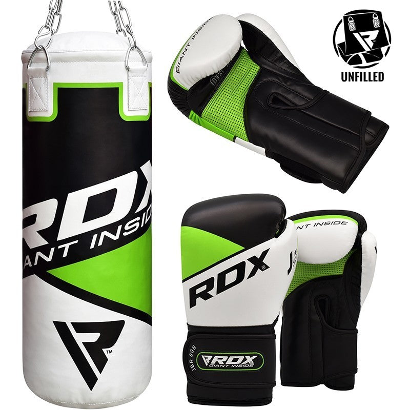RDX 8GN UNFILLED PUNCH BAG WITH BOXING GLOVES-1