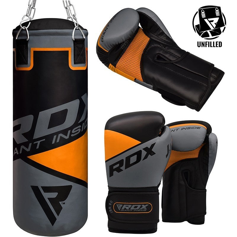 RDX 8O UNFILLED PUNCH BAG & GLOVES-1