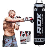 RDX 8PC BLACK ZERO IMPACT PUNCH BAG & BOXING SET-2
