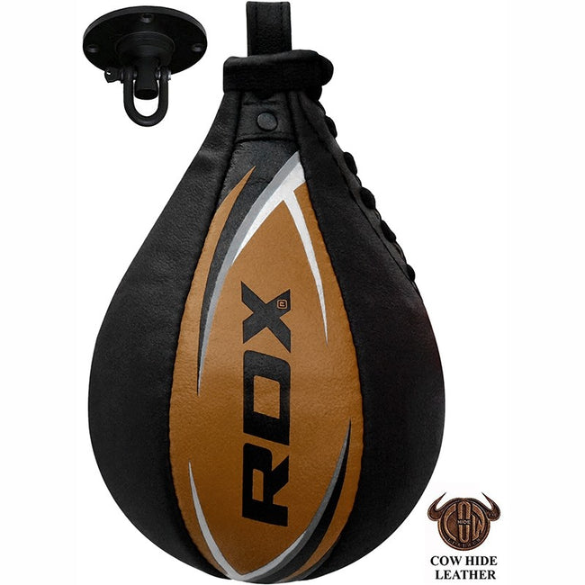 S2 LEATHER SPEED PUNCHING BALL/Tan-1