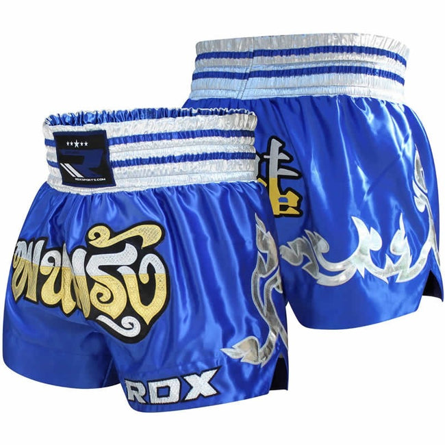 RDX R1 FIRE SATIN MUAY THAI SHORTS-1