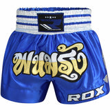 RDX R1 FIRE SATIN MUAY THAI SHORTS-6