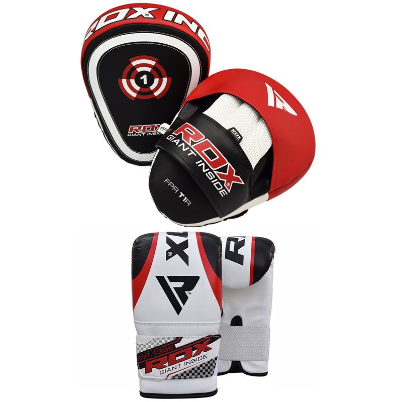 RDX BOXING PADS WITH BAG GLOVES-1