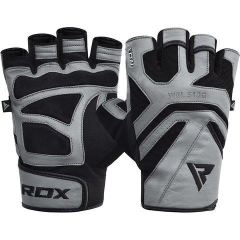 RDX S12 GYM WEIGHT LIFTING GLOVES/Gry-1