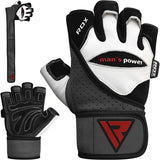 RDX L1 LEATHER GYM GLOVES-1