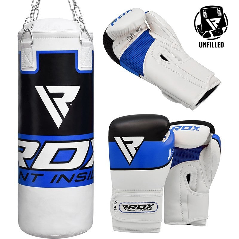 RDX P7 UNFILLED PUNCH BAG WITH BOXING GLOVES/Blu-1