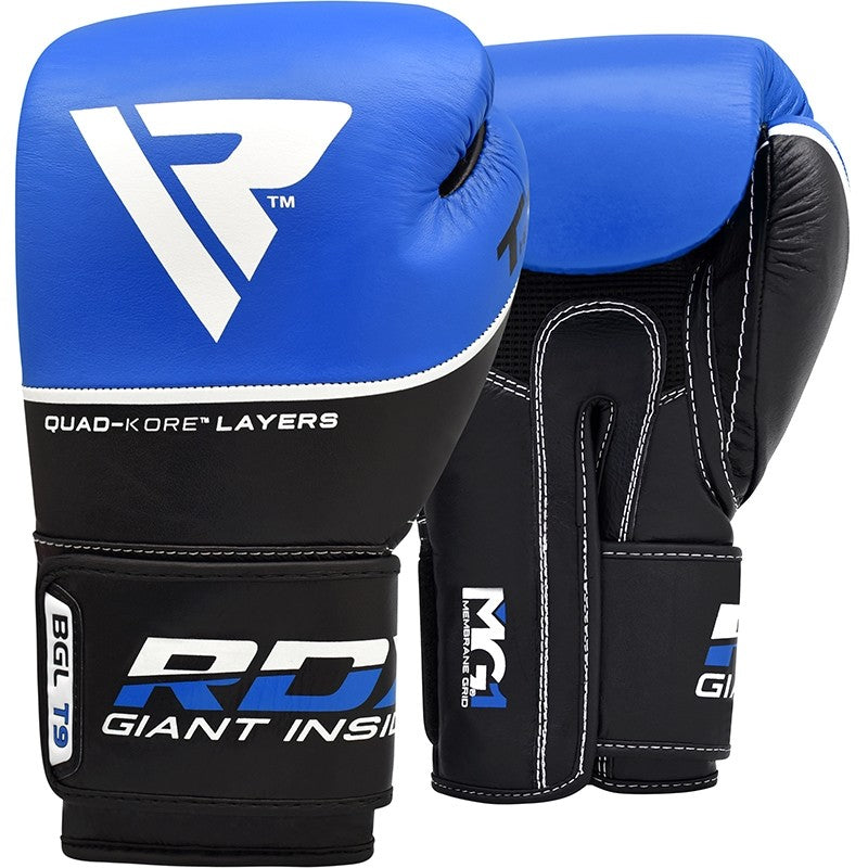 RDX T9 ACE LEATHER BOXING GLOVES(Blue)-1