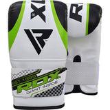 RDX UNFILLED GREEN PUNCH BAG & PUNCH MITTS SET-2