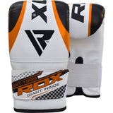 RDX 12O UNFILLED ORANGE PUNCHING BAG & MITTS-2