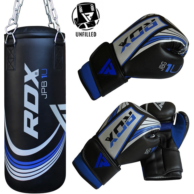 RDX X1U UNFILLED DEMO PUNCH BAG & GLOVES-1