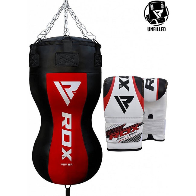 RDX UNFILLED BODY PUNCH BAG WITH MITTS-1