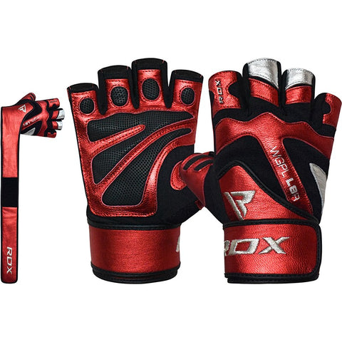 RDX L8 RED GYM GLOVES WITH WRIST SUPPORT-1