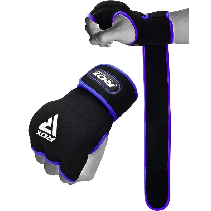 RDX X8 INNER HAND GLOVES WITH WRIST STRAP/Blu-1