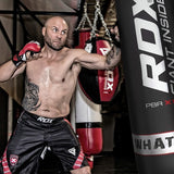 RDX X1 FILLED BLACK PUNCH BAG & BAG GLOVES-2