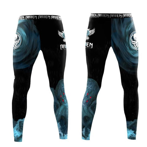 Raven-The Great Old Ones - Cthuhlu Grappling Tights