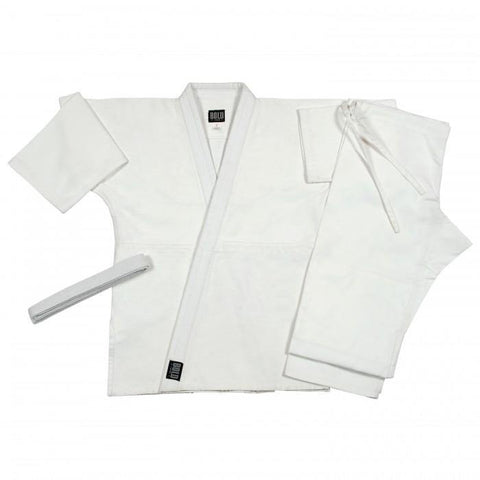 BOLD LOOK SINGLE WEAVE JUDO SETS-WHT-1