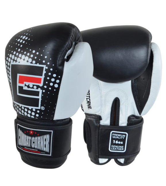 Combat Corner Supreme Thai Boxing Gloves Black-1