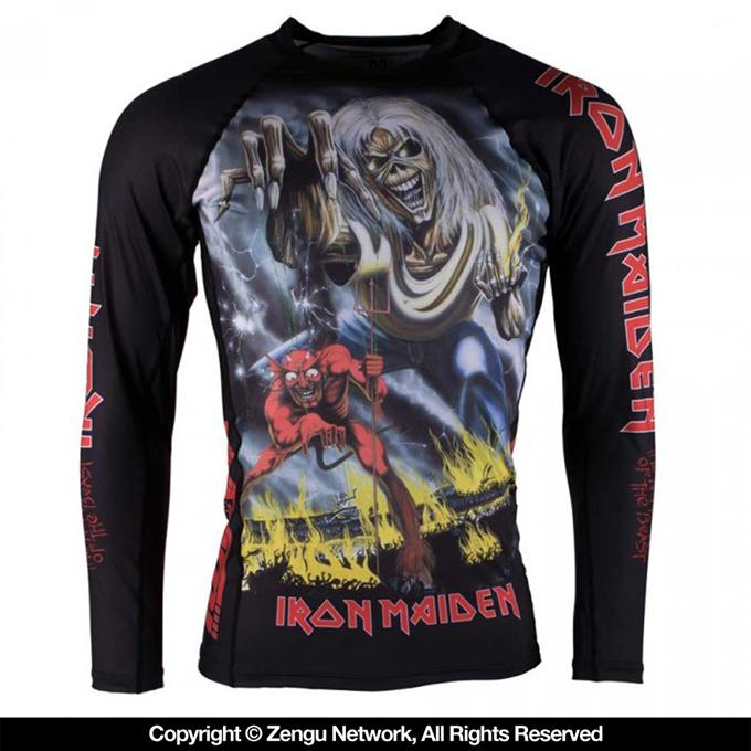 Tatami Iron Maiden Number Of The Beast Women's Grappling Rashguard-1