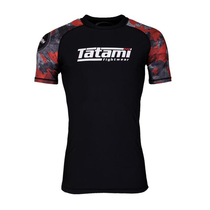 Tatami Renegade Red Camo Short Sleeve Grappling Rashguard-1