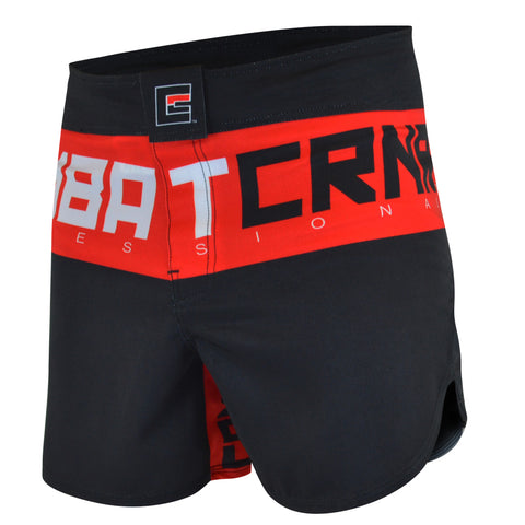 Combat Corner Supreme Hybrid Fight Shorts (Red)-2