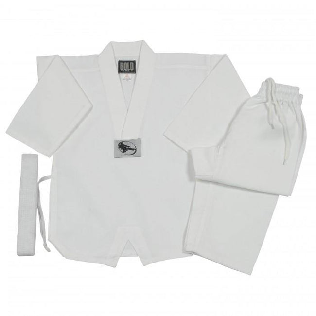 BOLD LOOK 7.5OZ MIDDLEWEIGHT TKD SETS-WHITE WITH COLLAR-1