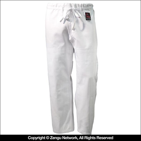 FUJI Single Weave BJJ Pants (White)-1