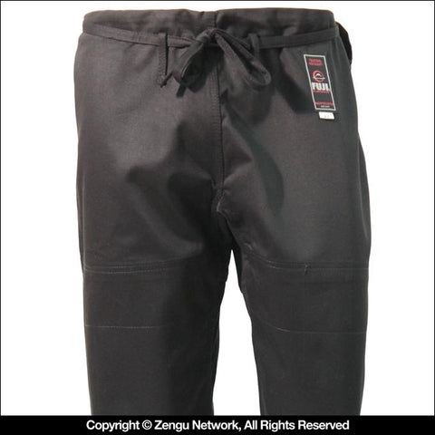 FUJI Single Weave BJJ Pants (Black)-1