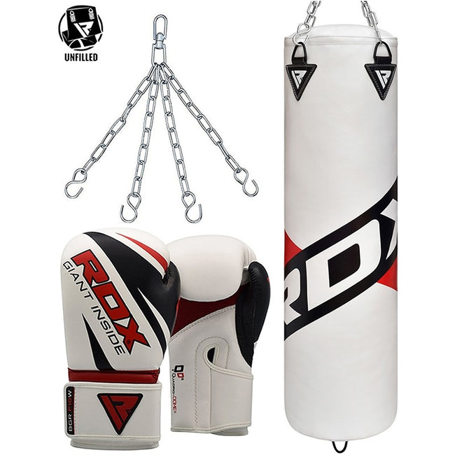 RDX F10 UNFILLED PUNCHING BAG WITH GLOVES-1