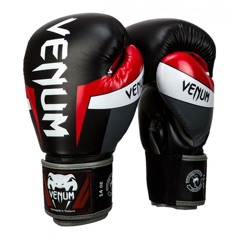 TITLE-VENUM-ELITE BOXING GLOVES-Black/red