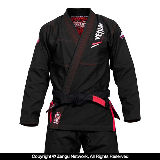 Venum-Elite Light Jiu Jitsu Gi - Black-1