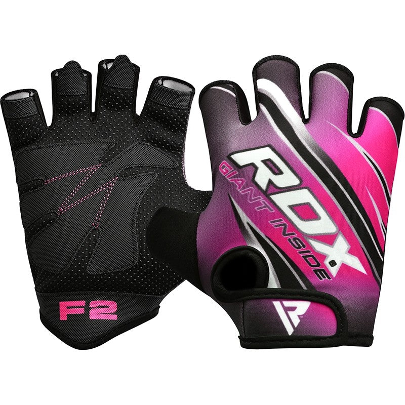 RDX F2 WOMEN PINK GYM WORKOUT GLOVES-1